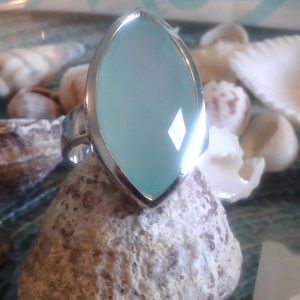 Chalcedoney  Sterling Silver Ring